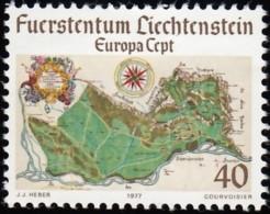 LIECHTENSTEIN - Scott #615 Map Of Liechtenstein / Mint H - Liechtenstein