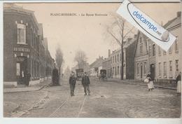 """BLANC-MISSERON : La Route Nationale,Café """"Au Sénégal"""",Bureau De Douane,Attelage,animée. - France"""