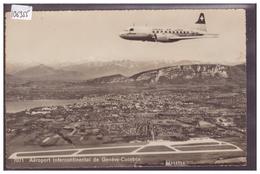 GENEVE - AEROPORT DE COINTRIN - AVION DE LA SWISSAIR SUR LA VILLE - TB - GE Ginevra