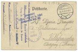 CARTE / CAMP PRISONNIERS DE GUERRE PRUSSISCH HOLLAND  1917 / POUR VILLEFRANCHE - Germania