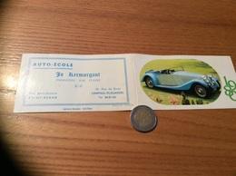 """Calendrier 1980 """"AUTO-ECOLE Jo Kermorgant SAINT-RENAN (29) / Photo Aarons - Benthley 1933 (voiture)"""" (6,5x23cm) - Petit Format : 1981-90"""