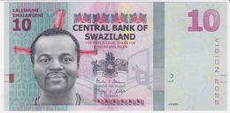 Swaziland NEW - 10 Emalangeni 6.9.2015 - UNC - Swaziland