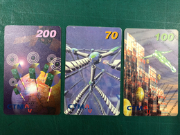 MACAU CTM PHONE CARDS - 1990'S SMART CARD SET OF 3 RARE IN SET - Macau