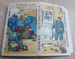 """Carnet De Papier à Cigarettes """"  LES DERNIÈRES CARTOUCHES  """"  Gommé Automatique Extra Fin D.C. AG ( Brauntein Frères ) - Empty Cigarettes Boxes"""