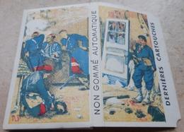 """Carnet De Papier à Cigarettes """" LES DERNIÈRES CARTOUCHES  """"  Non Gommé Automatique Extra Fin D.C.16 ( Brauntein Frères ) - Empty Cigarettes Boxes"""