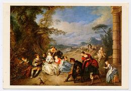 """{13258} Carte Postale """" Chefs D'œuvre Musée De Valenciennes , Série AS , N° 7/10 """"  """" En Baisse """" - Musées"""