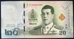 Thailand NEW - 20 Baht 2018 - UNC - Tailandia