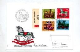 Lettre Recommandee Fdc 1983 Pro Juventute  Jouet - FDC