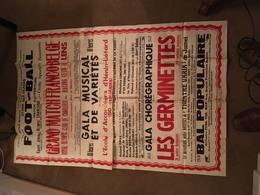 Grande Affiche Boussois 1954 Football Olympic Charleroi Rc Lens Gala Les Germinettes De Jumet - Affiches