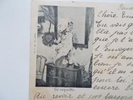 CPA Original - 1899 - La Coquette,  Gand 6 Avril 11-12h. Déjà à Bruxelles Le 6 Avril 13-14 H. !! En Dat 120 Jaar Geleden - Autres