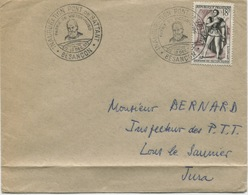 BESANÇON / INAUGURATION PONT DE BATTANT / Hernani (Yvert N° 944) / 1953 - Cachets Commémoratifs
