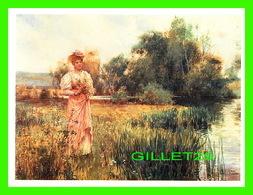 ARTS, PEINTURES - ALFRED AUGUSTUS GLENDENNING (1861-1903) - PICKING WILD FLOWERS  - VICTORIA'S SECRET - - Peintures & Tableaux