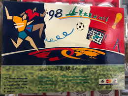 CHINA COMMEMORATING THE FRANE 1998 WORLD CUP FOOTBALL CREDIT CARD BY MAESTRO\ABRICULTURAL BANK OF CHINA SET - Sports