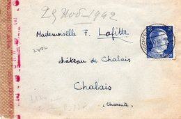 67 GUERRE 39-45 - Censure Allemande - Lettre De HOCHFELDEN 29.11.1942 - Timbre HITLER - Alsace-Lorraine