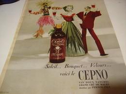 ANCIENNE PUBLICITE VIN DOUX DE MAURY LE CEPNO 1959 - Alcools