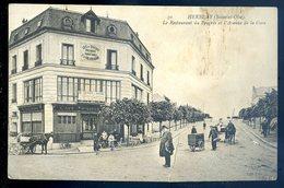 Cpa Du 95  Herblay Le Restaurant Du Progrès Et L' Avenue De La Gare  GX17 - Herblay