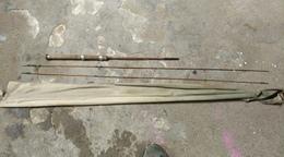 Canne A Pêche En Bambou Refendu En Deux Brins + Un  Brin Avec Son étui - Pêche