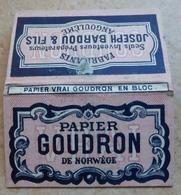 """Carnet De Papier à Cigarettes """"  GOUDRON   """" De Norvège  - Joseph Bardou & Fils Angoulème  (  Job  ) - Empty Cigarettes Boxes"""