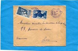 MARCOPHILIE-Lettre -Cote D'ivoire->Françe Cad-1950-TOUMODI- 2-stamps N°36 égreneur+38 Femme Foulah - Côte-d'Ivoire (1892-1944)