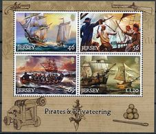 "Jersey 2014: ""Pirates & Privateering"" Michel-No.1858-61 Block 122 ** MNH - START BELOW POSTAL FACE VALUE (£ 2.91) - Schiffahrt"