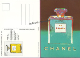 CHANEL : CHANEL N°5  CP : Hommage D'Andy Wharol à N° 5- 1997 Avec Patch Au Verso 10,3cmx14,8cm, Parfait état - Perfume & Beauty