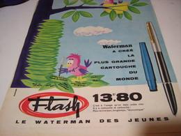 ANCIENNE PUBLICITE LA PLUS GRANDE CARTOUCHE WATERMAN  1961 - Autres