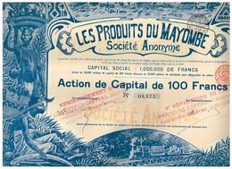 Action Ancienne - Les Produits Du Mayombe Sté Anonyme - Titre De 01.175 - Déco - Rare - Afrique