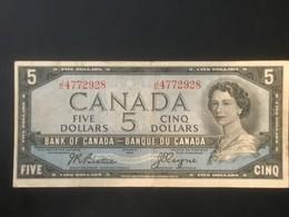 1954 Canada $5 Dollars Banknote - Very Fine - Canada