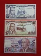 Maroc // Morocco : 3 Billets De Banque Du Maroc -1970-1985-1987 - Marocco