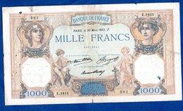 1000 Francs Cérès Et Mercure   / 30 - 3 - 33 - 1871-1952 Antichi Franchi Circolanti Nel XX Secolo