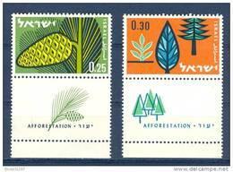 Israel - 1961, Michel/Philex No. : 247/248,  - MNH - *** - Full Tab - Israël