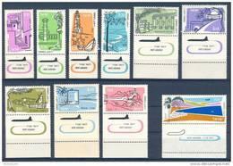 Israel - 1960, Michel/Philex No. : 202-211,  - MNH - *** - Full Tab - Neufs (avec Tabs)