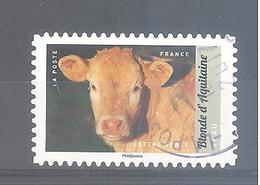 France Autoadhésif Oblitéré N°1391 (Veau - Blonde D'Aquitaine) (cachet Rond) - France