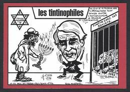 CPM Hérgé Tintin Vu Par Jihel Tirage Signé 50 Exemplaires Numérotés Signés Draguignan Antisémitisme - Hergé