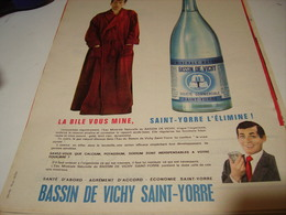 ANCIENNE PUBLICITE BASSIN DE  VICHY SAINT YORRE 1961 - Affiches
