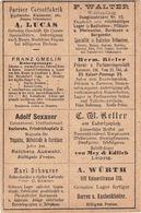 Entier Avec Publicité De La Poste Locale Allemande De Karlsruhe : Crin De Cheval, Vin Et Alcool, Vélo, Hygiène, Textile - Wein & Alkohol