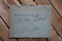 Enveloppe En Franchise Postale Militaire WWII Pour Lyon Camp De Barcarès 1940 - Marcophilie (Lettres)