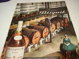 ANCIENNE PUBLICITE COGNAC BISQUIT 1961 - Alcools