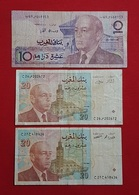 Maroc // Morocco : 3 Billets De Banque Du Maroc -1987-1996 - Marocco