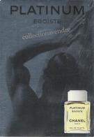 CHANEL : CP PLATINUM  Avec Patch Au Verso, 10,5 Cm X 14,5 Cm, Parfait état - Parfums & Beauté