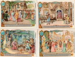 """Série De 6 Chromos """" Les Pilules Du Diable"""" Chicorée Arlatte & Co Cambrai - Trade Cards"""