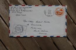 Enveloppe US Army APO 758 Pour Faverney (Haute-Saône) 1945 Censure Militaire - Stati Uniti