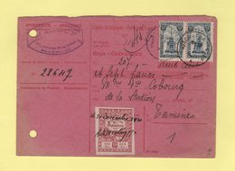 Belgique - Carte Recipisse - Recu Cheques Postaux - Timbre De Quittance - 1920 - Covers & Documents