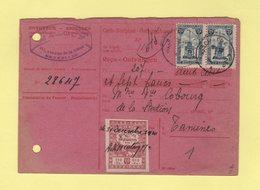 Belgique - Carte Recipisse - Recu Cheques Postaux - Timbre De Quittance - 1920 - Cartas
