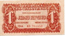 1 JEDNU KORUNU  (1944) - Tchécoslovaquie