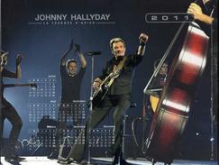 Calendrier Almanach La Poste PTT 2011 Johnny Hallyday La Tournée D'adieu - Grand Format : 2001-...