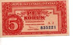 1 PET KORUNU  (1949) - Tchécoslovaquie