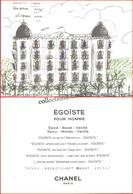 CHANEL : Égoïste Pour Homme. Format Carte Postale. Recto Verso, 10,8 Cm X 14,8 Cm, Parfait état - Parfums & Beauté