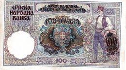 100 DINARA ( 1941 ) - Tchécoslovaquie