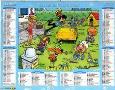Calendrier Almanach La Poste PTT 2011 BOULE & BILL - Calendriers
